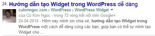 Kiểm tra kết quả với từ khóa Hướng dẫn tạo Widget trong WordPress