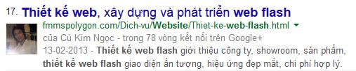 SEO từ khóa Thiết kế website flash